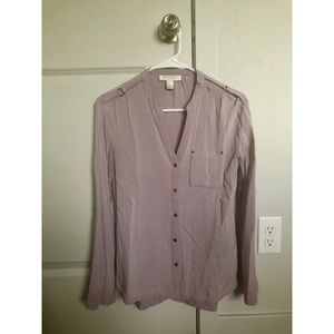 Forever 21 Blouse -Military style, sleeves roll up